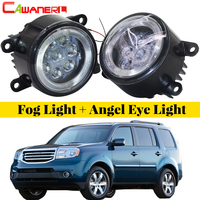 Cawanerl For Honda Pilot 3.5L V6 2012 2013 2014 2015 Car LED Bulb Fog Light Angel Eye DRL Daytime Running Light 12V 1 Pair