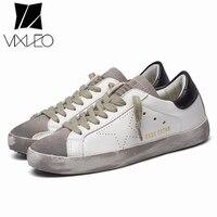 VIXLEO Italien Designer Goldene pu leder Casual Männer trainer super Star schmutzig Goose Schuhe Schuhe Zapatillas korb femme 36-44
