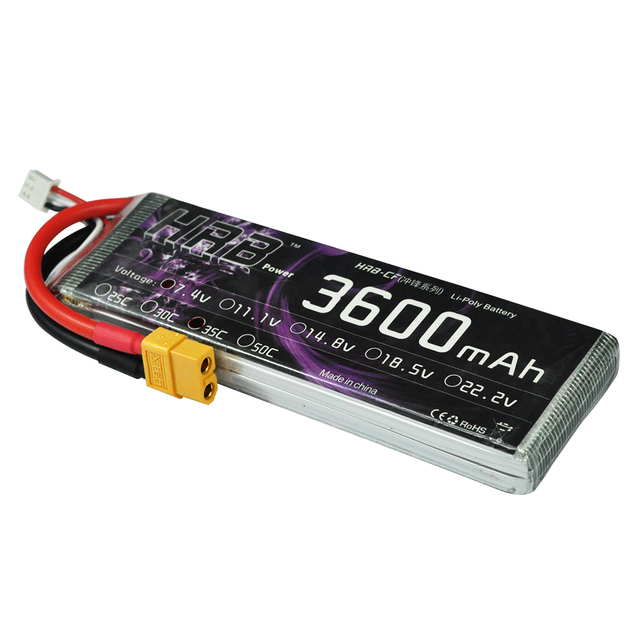 HRB Lipo Battery 2S 7.4V 3600mAh 35C For Helicopter Quadcopter RC Aircraft Multicopter RC Toys