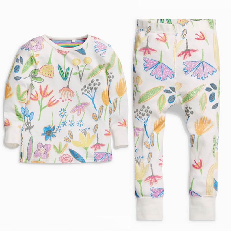 d16ba11871 2018 Children s Pajamas Sets Cat Girls Cartoon Sleepwear Kids Cotton Pyjamas  Children Winter Clothing