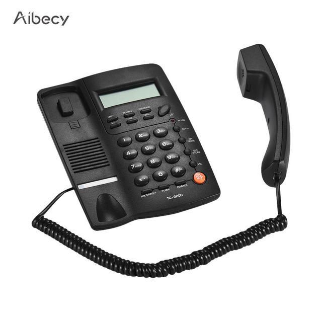 デスク telefone 電話機の電話固定電話の Lcd ディスプレイ発信者 ID ボリューム調整可能な電卓アラーム用のコール