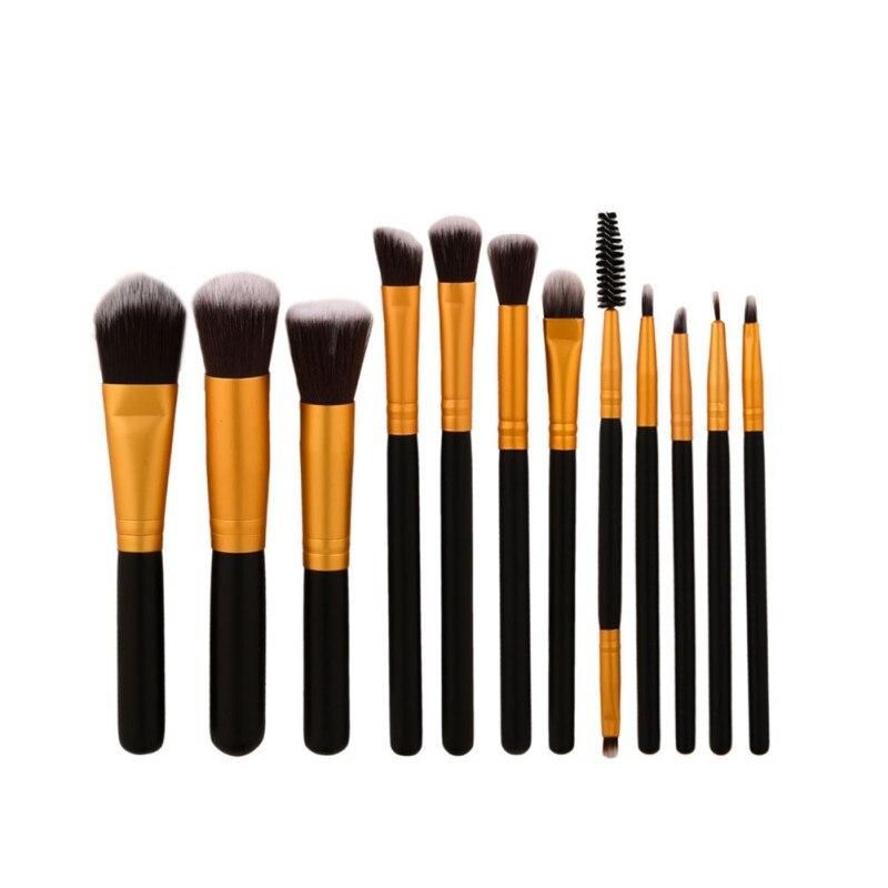 12pcs High Quality Professional Makeup Brush Set Makeup Tools Kit pincel de maquiagem professional eyeshadow brush makeup brush set pinceau fond de teint 12 pcs high quality makeup tools kit violet pincel sombra