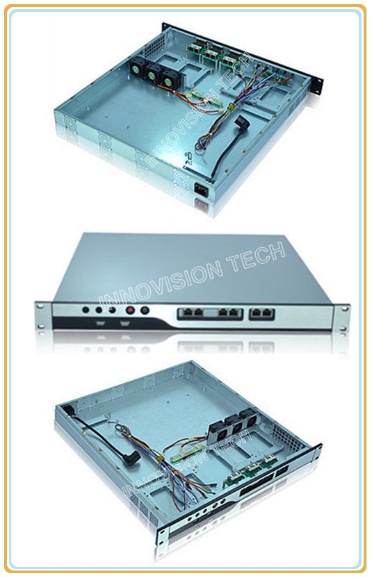 Compact 1U Rackmount Chassis NC1U-450 With Stylish Aluminum Front-panel Server Case