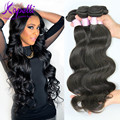 En bruto 7A Peruana Virgin Hair Body Wave 3 unids/lote Barato Remy Armadura Del Pelo Humano Peruano Onda Del Cuerpo Peruano Extensiones de Cabello