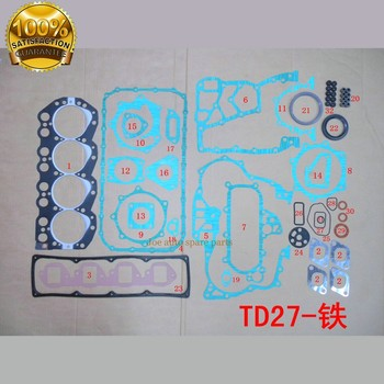 TD27 Full gasket set kit for FORD MAVERICK 2.7TD 2663CC 2664CC 2.7TD  FOR Nissan pathfinder terrano II/van 2.7TD/D/TDI 51008000