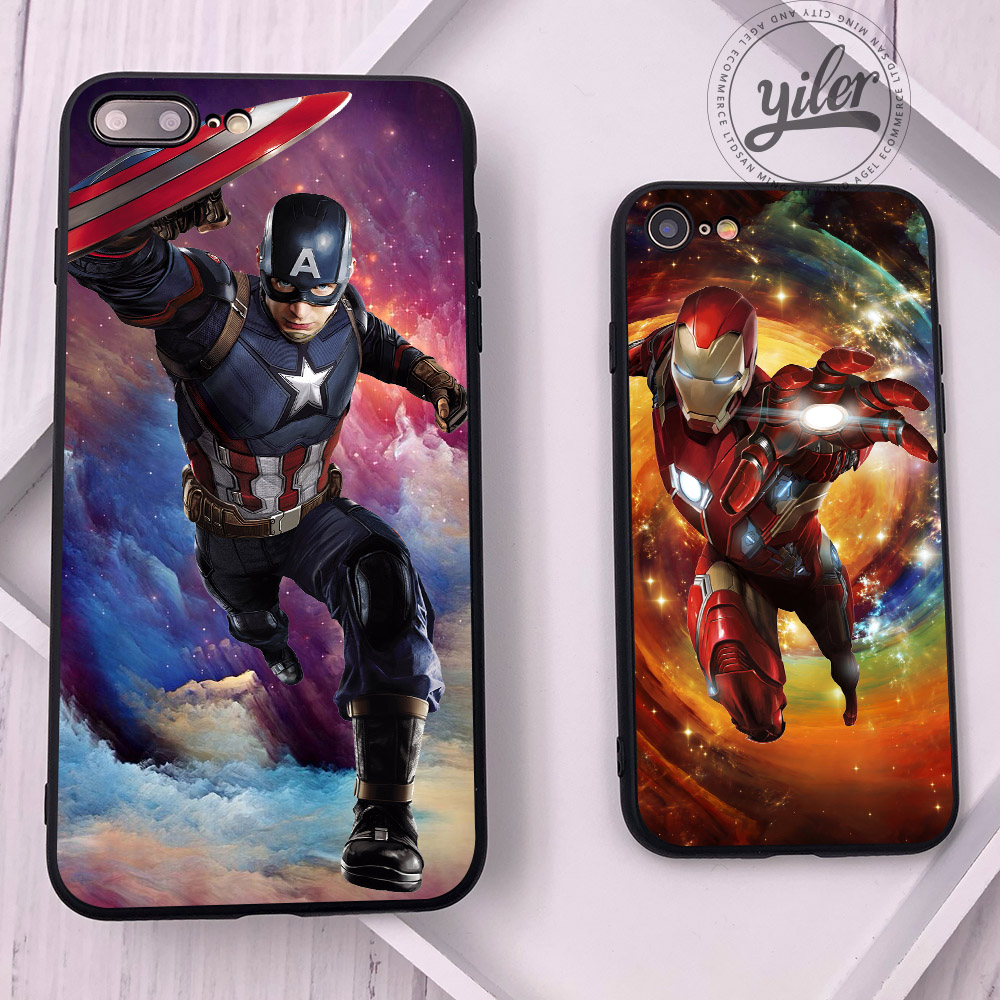 Captain America for Case iPhone XS Max Cover for iPhone 8 Plus 5 5S SE 6 6S 7 8 Plus X XS Case for iPhone XR Cases for iPhone 8