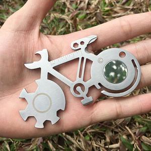 Bicycle Shaped Repair Tools 4/5/6/7/8.5cm Multi-purpose Bicycle Repair Wrench Mountain Bike Repair Tool Card S3(China)