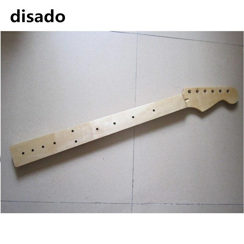 Disado Fretless incrustation dots érable guitare électrique cou érable touche bois couleur brillante peinture accessoires guitare pièces