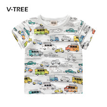abc8622ae16 V-TREE Boys Clothes Summer Cotton Baby Boys T Shirt Short Sleeve Car Print  ...