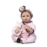Soft Silicone Reborn Babies Dolls NPK Toy dolls girl Birthday Gift 55cm bebe Princess reborn bonecas educational toys for child