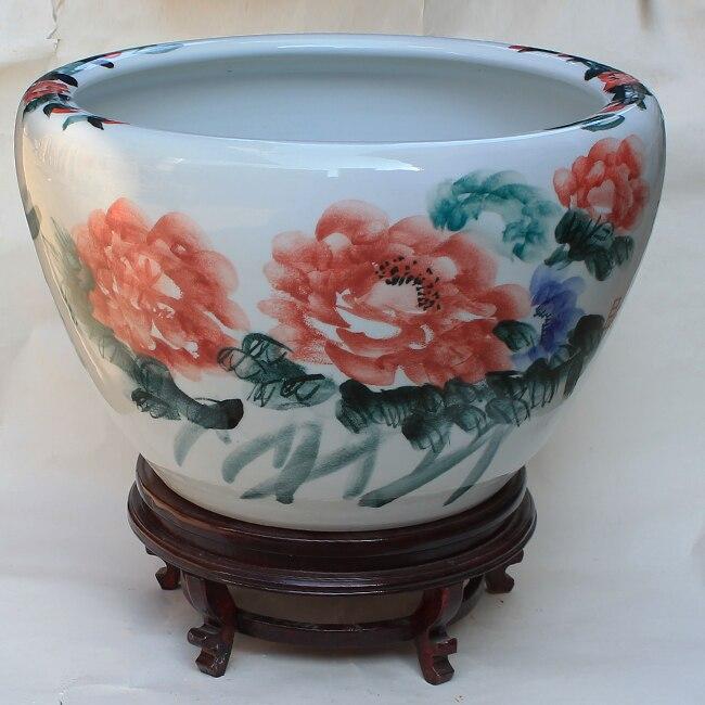 Доставка Цзиндэчжэнь керамический горшок посадки цветов и деревьев, Балконный цветочный горшок украшения для дома, украшения горшок фарфо
