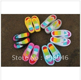 120043 Slippers Garden shoes casual slippers for women sandals slippers colorful shoes