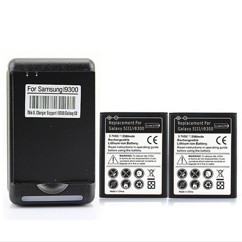 High Quality New 2x 2300mAh Replacement font b Battery b font for Samsung Galaxy S3 i9300