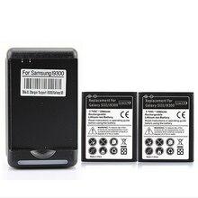 Alta calidad nuevo 2×2300 mah batería de repuesto para samsung galaxy s3 Batería + Cargador de Pared para S3 i9300 i747 i9300 T999 L710