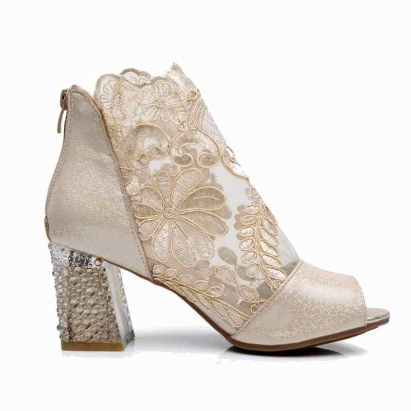 GKTINOO/Новинка 2019 года, пикантные модные сандалии с открытым носком, женская обувь, летние сандалии, обувь из натуральной кожи, женские сандалии, ботильоны