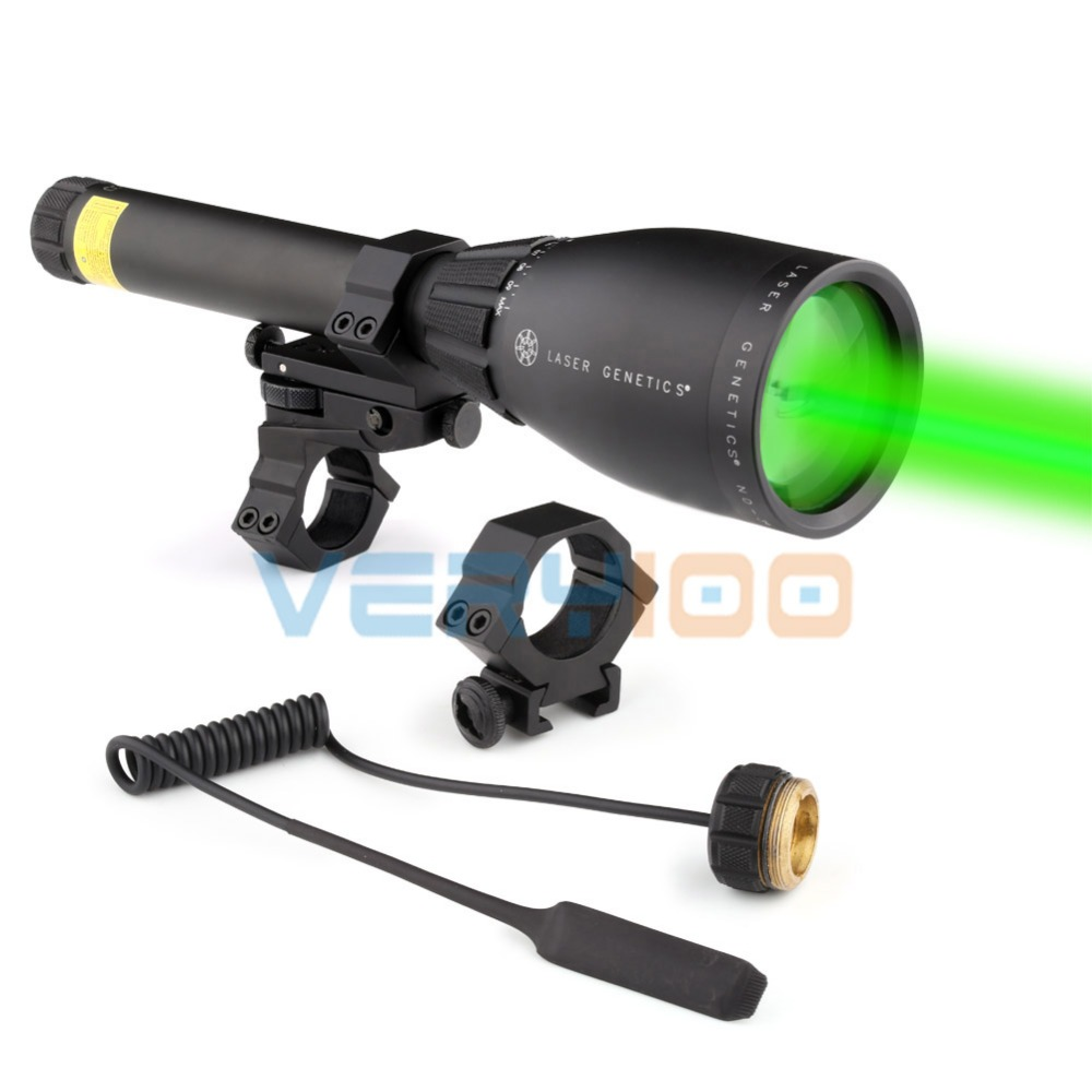 Laser Genetics ND3 x 50 Long Distance Green Laser Designator With Mount New Hunting Tactical Flashlight
