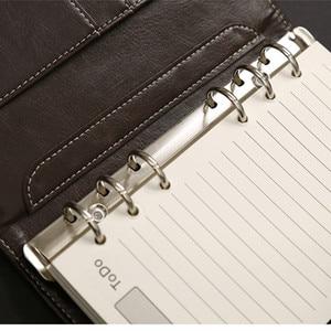Image 3 - Y17 개인 일기 나선형 노트북 의제 플래너 주최자 A5 A6 링 바인더 크리 에이 티브 노트 도서 가죽 커버 오피스 문구