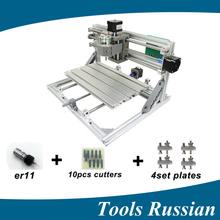 Only Russia cnc3018 ER11 diy mini cnc laser engraving machine Pcb Milling Machine wood router laser