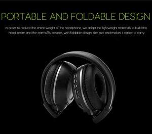 Image 3 - หูฟังไร้สายชุดหูฟังสเตอริโอไฮไฟสเตอริโอพร้อมไมโครโฟนวิทยุ FM การ์ด Micro SD Play จอแสดงผล LED หน้าจอหูฟัง