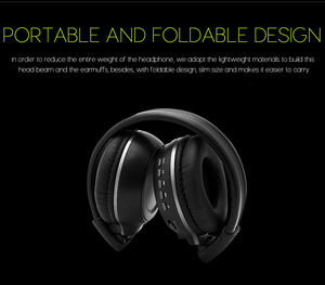 Image 3 - Wireless Headphones Bluetooth HiFi Stereo Headset With Microphone FM Radio Micro SD Card Play  LED Display Screen earphone