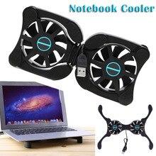 Складные USB Охлаждающие подставки для ноутбука с двойными вентиляторами, мини-охлаждающая подставка для ноутбука Octopus, охлаждающая подставка для дюймового ноутбука(бесплатный подарок