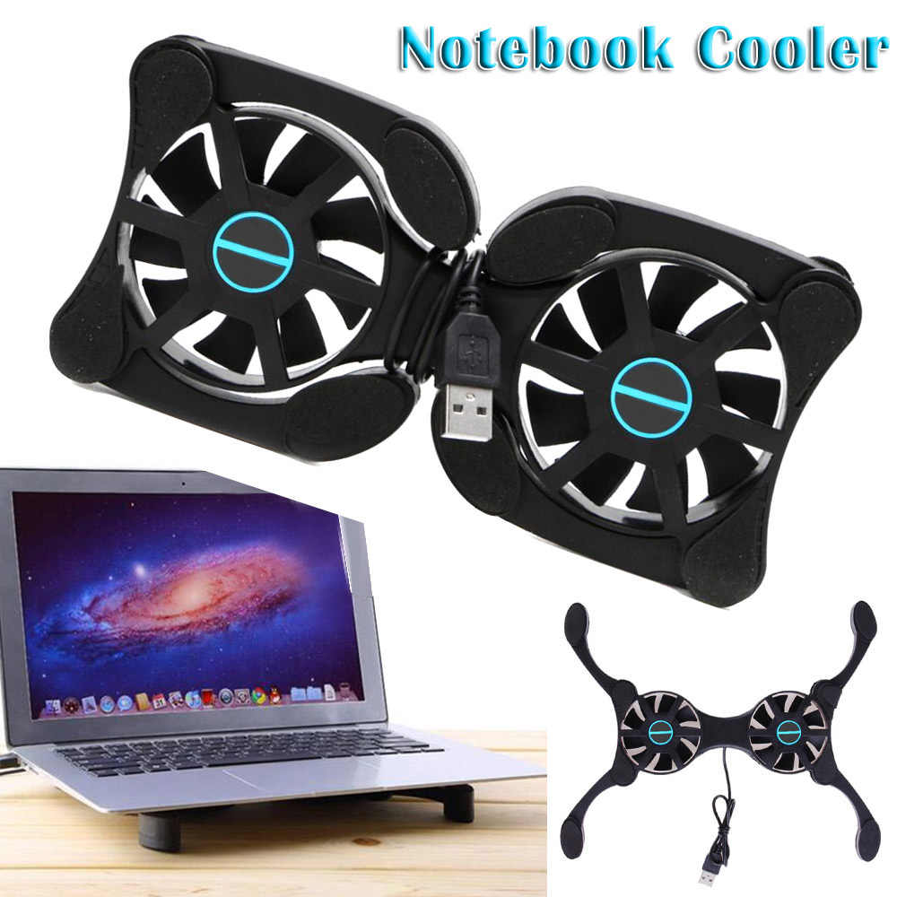 Opvouwbare USB Laptop Cooling Pads Met Dubbele Fans Mini Octopus Notebook Koeler Cooling Pad Voor Inch Notebook Laptop (gratis gift)