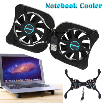 Foldable USB Laptop Cooling Pads With Double Fans Mini Octopus Notebook Cooler Cooling Pad For Inch Notebook Laptop (free gift) mini foldable usb cooling fan octopus notebook cooler cooling pad stand double fans for notebook laptop