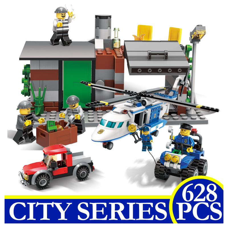 9319 628Pcs City Series Police Patrol Aircraft Model Building Blocks Bricks Educational Children Gifts Compatible With LEPIN city series police car motorcycle building blocks policeman models toys for children boy gifts compatible with legoeinglys 26014