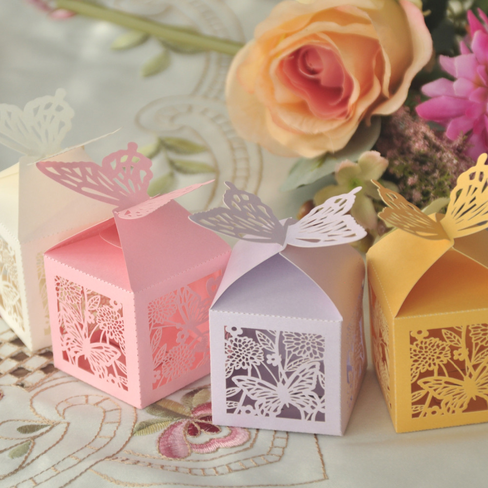 New 100Pcs Folding DIY Butterfly Wedding Candy Box For Ideas ...