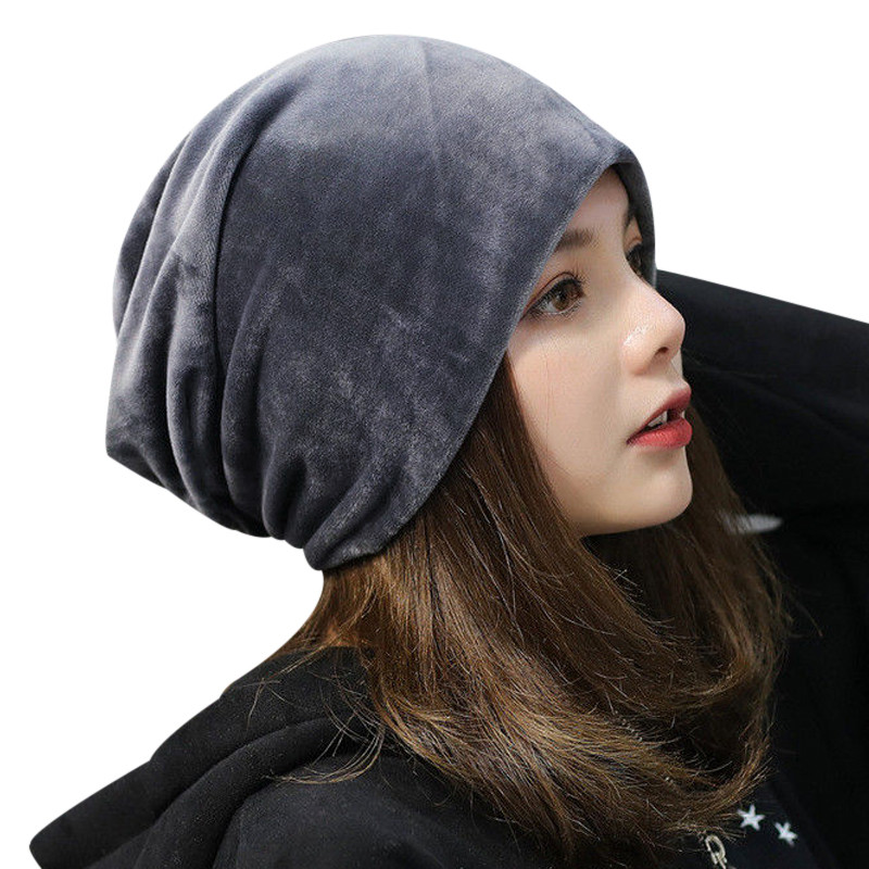 bbdf37251be Warm Fleece Slouchy Beanie Hats For Women 2017 Winter Caps Ladies Velvet  Skullies Beanie Gorro Female Baggy Hat Bonnet Femme-in Skullies   Beanies  from ...