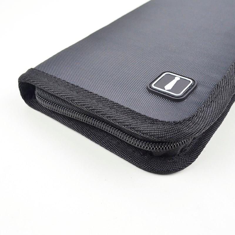 2019 Hot Sale 1 Pcs Tie Travel Case Necktie Holder Organizer Cufflinks Tie Clips Storage Bag MSJ99