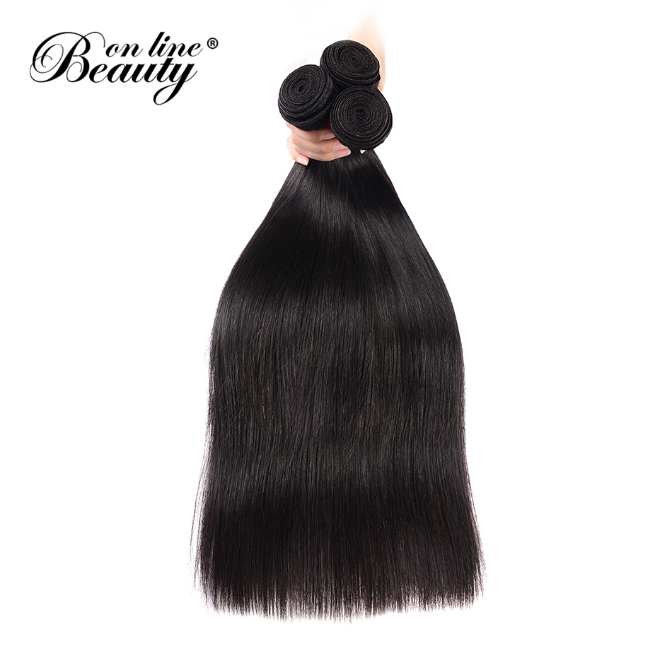 Beauty On Line Hair Indian Straight Hair 3 Bundles Human Hair Bundles Remy Hair Extention 8-30 inch Natural Color Free Shipping