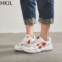 HKJL Strawberry little bear shoe 2019 spring and summer new style all-in-one casual low-top mesh breathable sports shoes A090