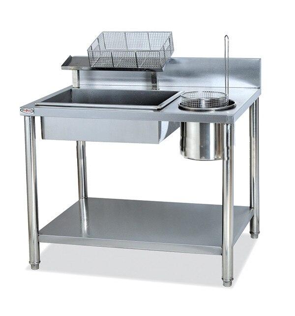 Gw 1000 wrpping Мощность стол из нержавеющей стали и простой верстак, легко панировке столик Западной фаст KFC Фрайер Euipment