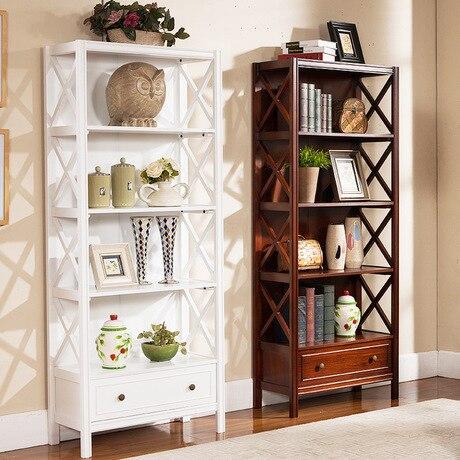 US $1728.99 9% OFF|Bücherregale Wohnzimmer Möbel Home Möbel massivholz mit  schublade bücherregal schrank display buch stehen moderne 72*31*172 cm ...