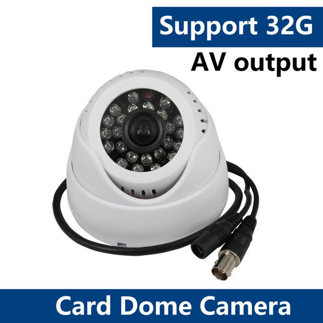 YUNSY 2016 ENew DVR câmera dome TF cartão slot para cartão shell câmera de vigilância câmera de vigilância 10 m infravermelho câmera TF cartão