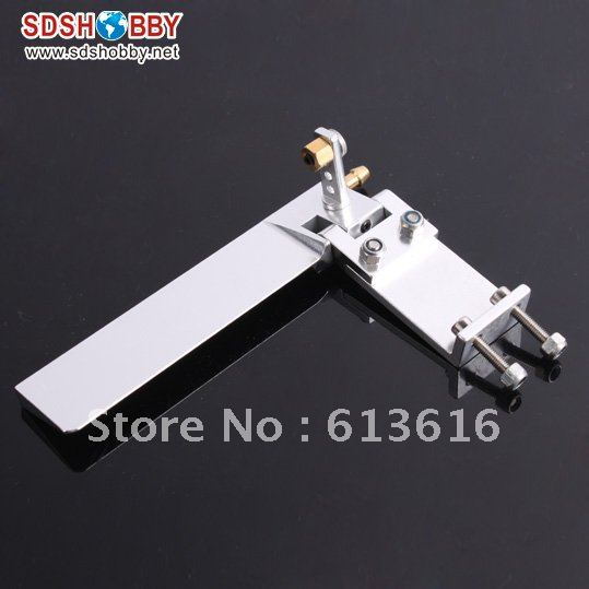 95mm Aluminum Alloy Single Rudder for RC Boat with Water Pickup 3.3mm aluminum alloy 160 single rudder length 90mm height 160mm with long double water pickups for 26cc boat