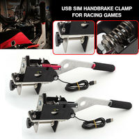 pcmos PC SIM USB Handbrake Clamp For Racing Games G25/G27/G29 T500 FANATECOSW DIRT RALLY UR New Auto Replacement Part Hand Brake