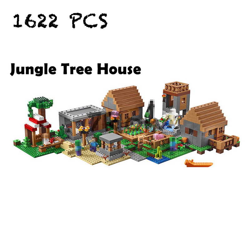 Compatible with lego 21128 Models building toy 10531 1622PCS My World Series Jungle Tree House Building Blocks toys & hobbies 33163 1007pcs my world luxury tree house pet village farm windmill lele building blocks brick toy