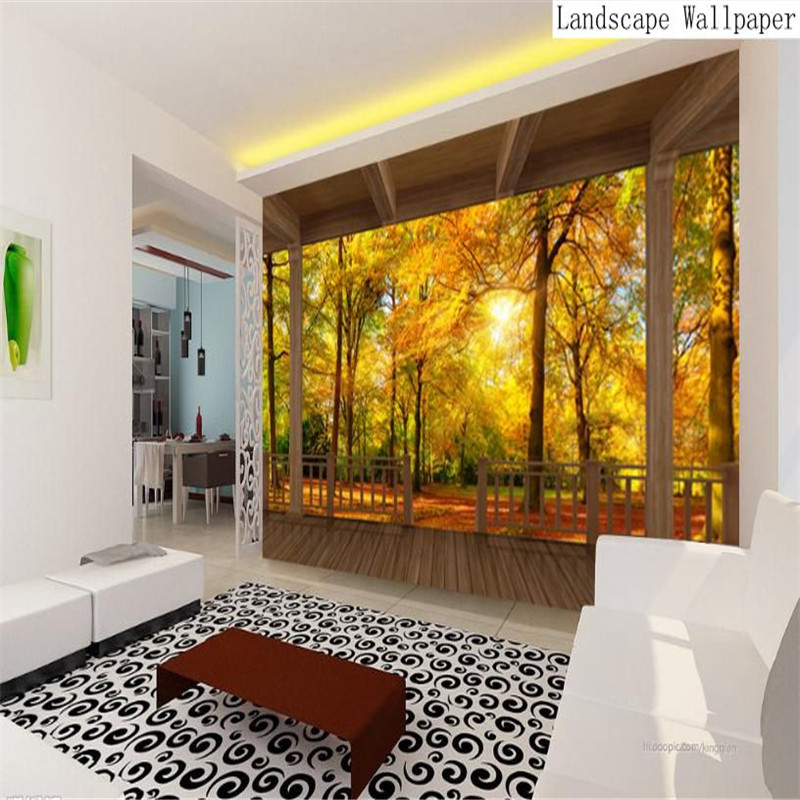 3d HD modern custom large wallpaper living room bedroom background wall mural abstract landscape red maple wallpaper non-woven popular large mural personality abstract modern art wallpaper sofa background ship nostalgia non woven wallpaper bedroom