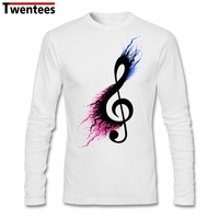 Long Sleeve Father S Day Custom Split Music Note Shirt For Men Designed Plus Size Family