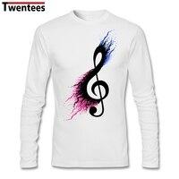 Long Sleeve Father S Day Custom Split Music Note Shirt For Men Designed Plus Size Family
