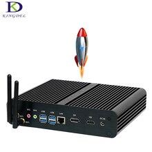 Без вентилятора Mini PC [7TH Gen Intel Core i7 7500U] kaby Lake Fenêtres 10 Max 3.5 ГГц Intel HD Графика 620, 4 К HDMI, HTPC ТВ коробка