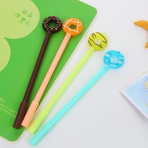 Image 3 - Jonvon Satone 50 adet sevimli kalem tatlı şeker halkası nötr kalem plastik yazma kalemler toptan kırtasiye Kawaii okul malzemeleri