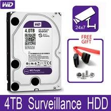 WD фиолетовый 4 ТБ внутренний жесткий диск наблюдения 3,5