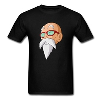 Men S T Shirt For Men Dragon Ball Mutenroshi Face Teenage Crew Neck Short Sleeve Shirt