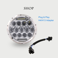 7 Inch 75W Round Daymaker LED Projector Headlight Waterproof Bulb For Harley Davidson Motorcycle Jeep Wrangler