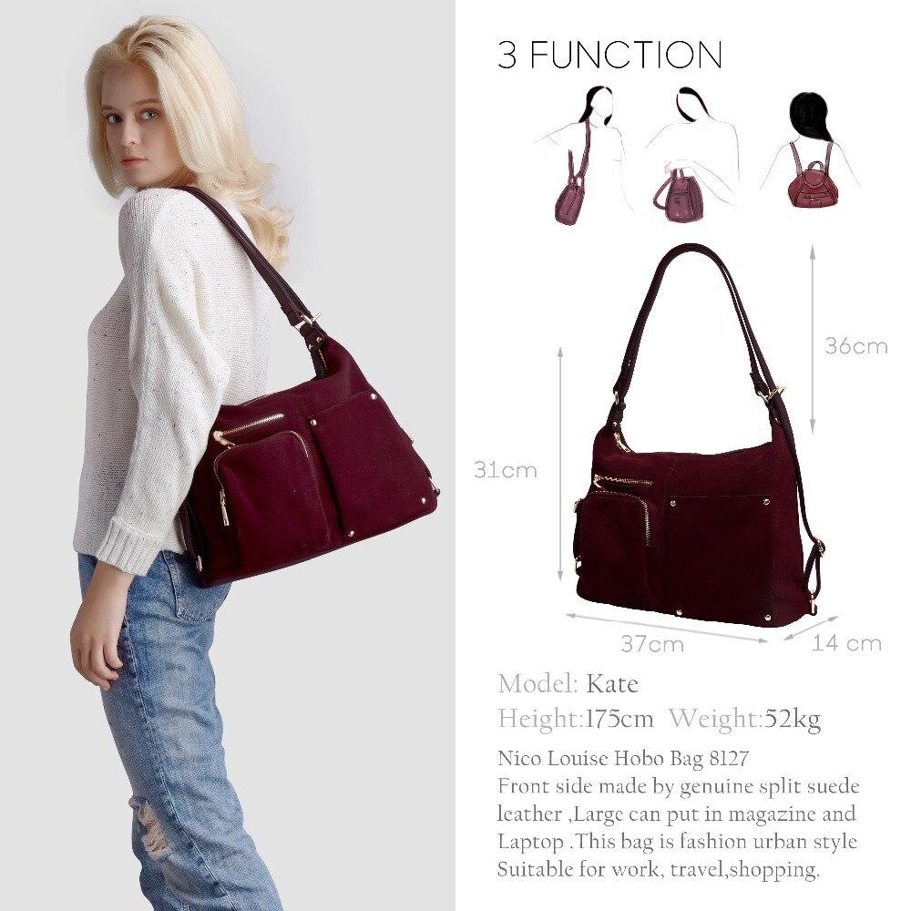 Split Suede Leather Shoulder Bag