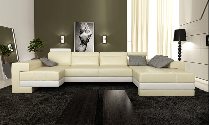 Free Shipping Nice Sofas New Modern Design Sofa U Shaped