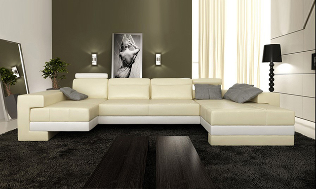 Free Shipping Nice Sofas New Modern Design Sofa U Shaped Corner
